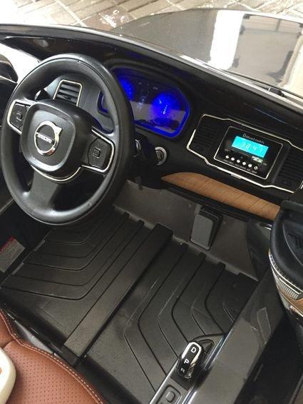 Электромобиль VOLVO XC90 черный (колеса резина, сиденье кожа, пульт, музыка)