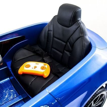 Электромобиль Mercedes-Benz S63 AMG синий (колеса резина, сиденье кожа, пульт, музыка)
